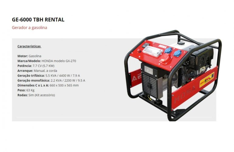 GE-6000 TBH RENTAL